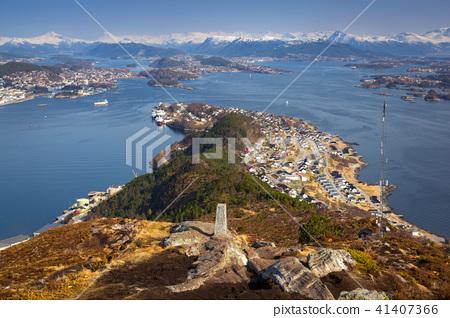 Beautiful scenery of west Norway coastline  41407366
