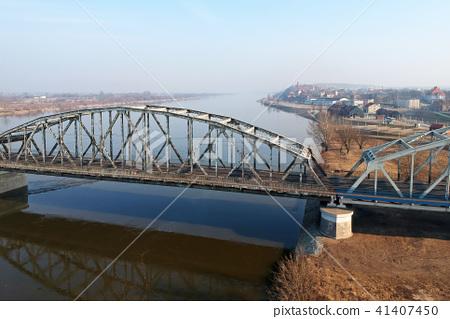 Bridge over Wisla river in Grudziadz, Poland 41407450