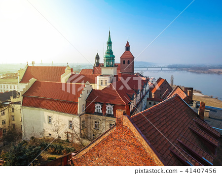 Architecture of Grudziadz at Wisla river, Poland 41407456