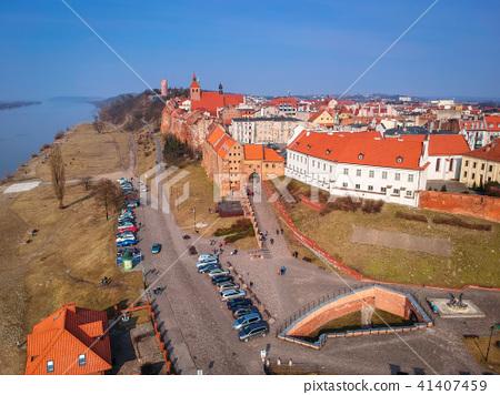 Architecture of Grudziadz at Wisla river, Poland 41407459