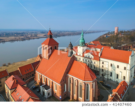 Architecture of Grudziadz at Wisla river, Poland 41407460