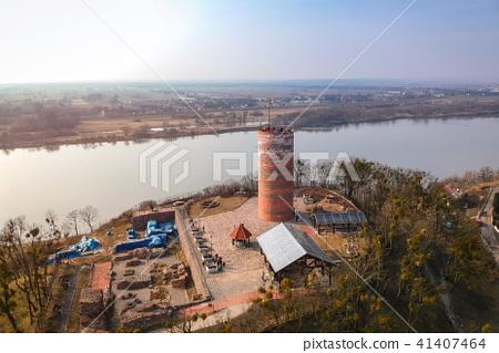Klimek tower in Grudziadz at Wisla river, Poland 41407464