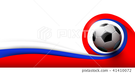 Soccer ball and white, red and blue background 41410072