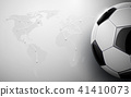 Soccer ball and world map connection background 41410073