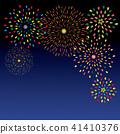Fireworks in the night sky 41410376