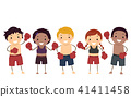 Stickman Kids Muay Thai Illustration 41411458
