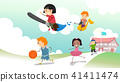Stickman Kids School Activity Illustration 41411474