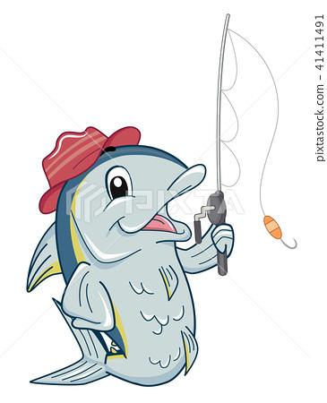 Fish Mascot Tuna Fishing Illustration 41411491