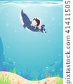kid boy swim 41411505