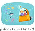 stickman,kids,submarine 41411520