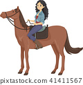 horse, riding, woman 41411567