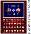 Scoreboard of football match  41412260