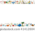 summer, frame, vector 41412604