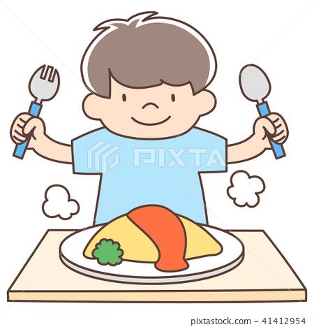 嬰兒3歲男孩_煎蛋捲飯 41412954