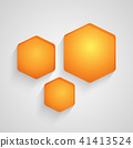 Background with honeycombs. Vector illustration. 41413524