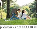 독서, 책, 커플 41413839