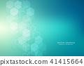 벡터, 분자, 배경 41415664