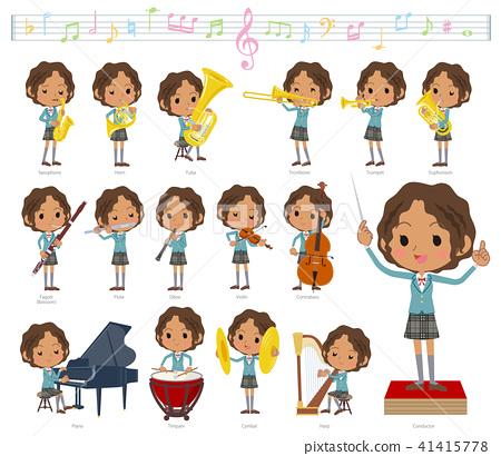 여성, 여자, 악기 41415778