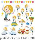 School girl White_food festival 41415798