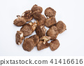 Dried shiitake mushroom isolated 41416616