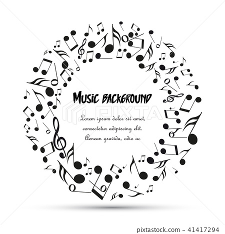 Decoration of musical notes 41417294