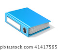 Blank blue ring binder 3D rendering illustration 41417595