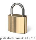 Padlock side view 3D rendering 41417711