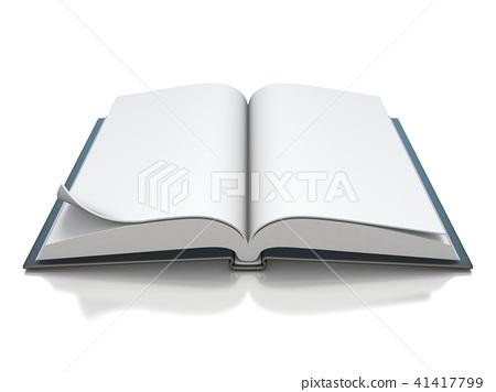 Blank black opened book 3D rendering 41417799