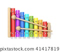 Wooden xylophone with two wood drum sticks 3D 41417819