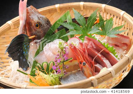 被分類的生魚片被分類的籃子竹草 41418569