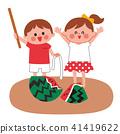 西瓜分裂的孩子 41419622