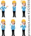 여성, 여자, 건설업 41420809