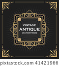 Luxury Vintage Artdeco Frame Design.  41421966