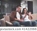 phone, sofa, man 41422066