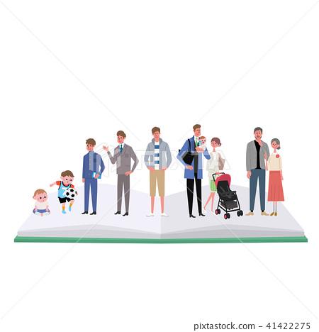 Life stage life illustration man 41422275