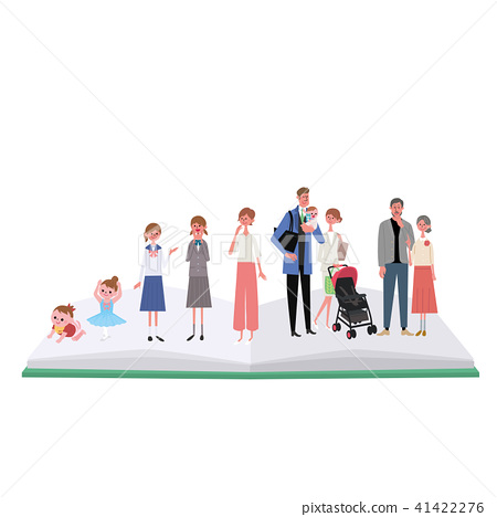 Life stage life illustration female 41422276