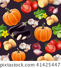Seamless pattern with vegetables. 41425447