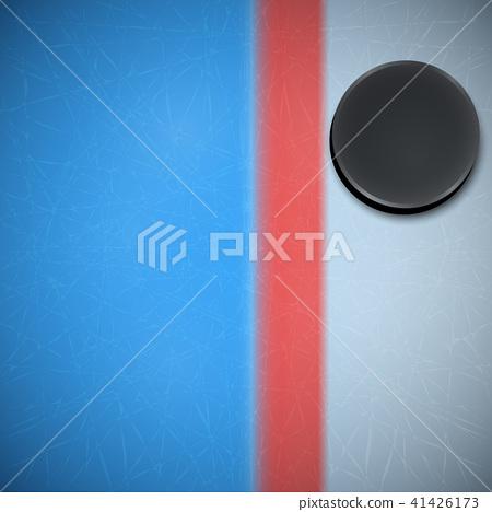 Hockey template. Ice Hockey Puck. 41426173
