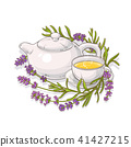 lavender tea illustration 41427215