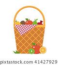 Picnic Vegetable Basket wit Blanket 41427929