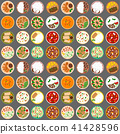 Traditional thai food asian cuisine thailand seafood prawn seamless pattern background cooking 41428596