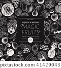 fruit, illustration, hand 41429043