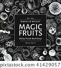 fruit, hand, drawn 41429057