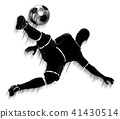 soccer, player, silhouette 41430514