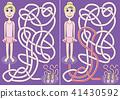 Ballerina maze 41430592