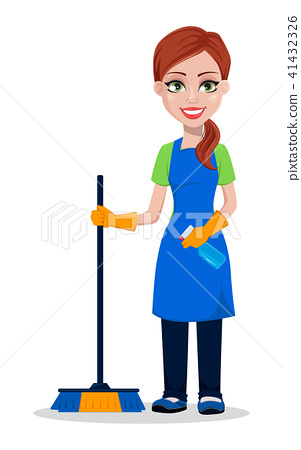 Cleaning company staff in uniform 41432326