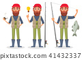 Fisher cartoon character 41432337