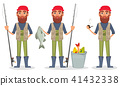 Fisher cartoon character 41432338
