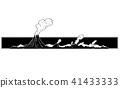 Vector Artistic Drawing Illustration of Volcano Landscape 41433333