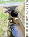 자연 물놀이 여름 방학 곤충 잡기 아이 41435378